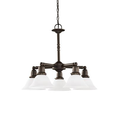 Sea Gull Lighting 39062BLE-782 Five-Light Sussex Fluorescent Chandelier
