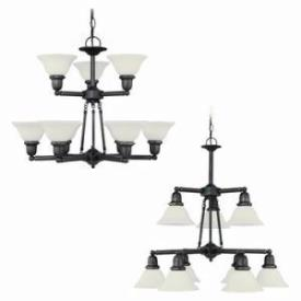 Sea Gull Lighting 39063BLE-782 Nine-Light Sussex Fluorescent Chandelier
