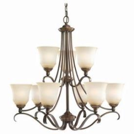 Sea Gull Lighting 39381BLE-829 Nine-Light Fluorescent Chandelier