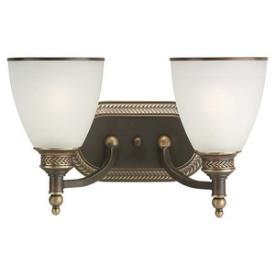 Sea Gull Lighting 44350-708 Laurel Leaf - Two Light Wall / Bath