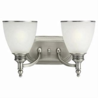 Sea Gull Lighting 44350-965 Two Light Antique Brushed Nickel Wall Light