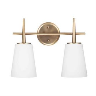 Sea Gull Lighting 4440402-848 Driscoll - Two Light Wall/Bath Bar