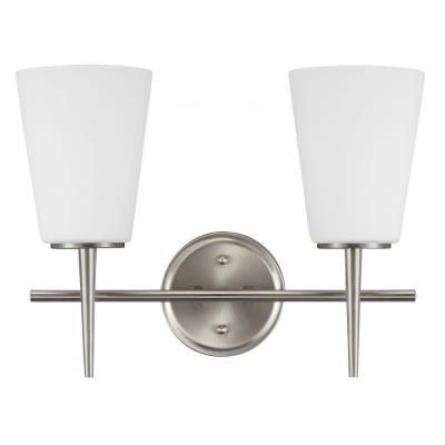 Sea Gull Lighting 4440402BLE-962 Driscoll - Two Light Wall/Bath Bar