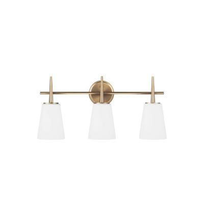 Sea Gull Lighting 4440403-848 Driscoll - Three Light Wall/Bath Bar