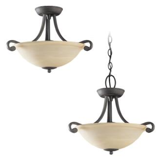 Sea Gull Lighting 51190-07 Two-Light Serenity Semi-Flush Convertable