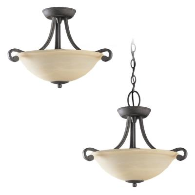 Sea Gull Lighting 51190-07 Two-Light Serenity Semi-Flush Convertable