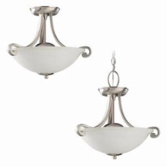 Sea Gull Lighting 51190-962 Two-Light Serenity Semi-Flush Convertable