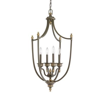 Sea Gull Lighting 51350-708 Laurel Leaf - Four Light Foyer