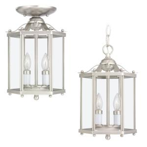 Two Light Hall Foyer Fixture