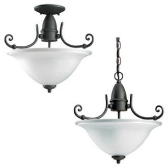 Sea Gull Lighting 59051BLE-71 Canterbury - Three Light Semi-Flush Mount