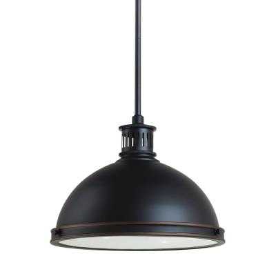 "Sea Gull Lighting 65086-715 Pratt Street - 13"" Two Light Pendant"