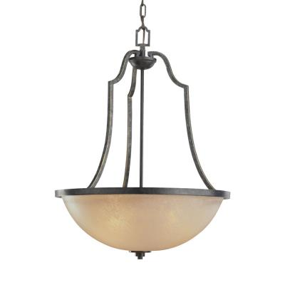 Sea Gull Lighting 65521-845 Three Light Antique Brushed Nickel Chandelier