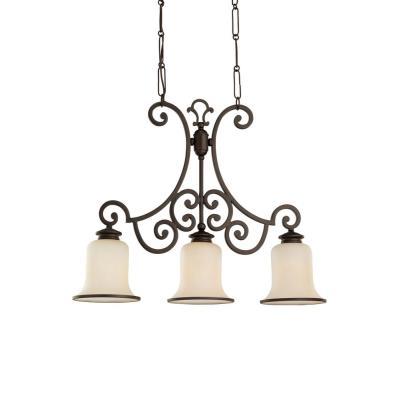 Sea Gull Lighting 66145-814 Three-Light Acadia Billiard Chandelier