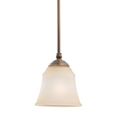 Sea Gull Lighting 69380BLE-829 Single-Light Fluorescent Mini Pendant