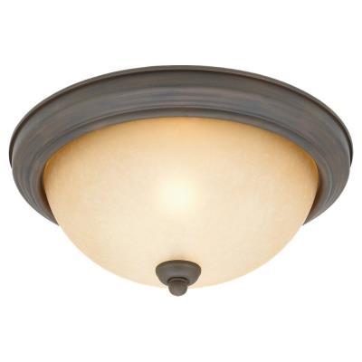 Sea Gull Lighting 77064-72 Two-Light Olde Iron Ceiling Light