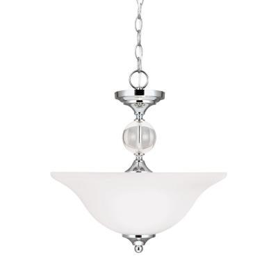 Sea Gull Lighting 7713402BLE-05 Englehorn - Two Light Convertible Pendant