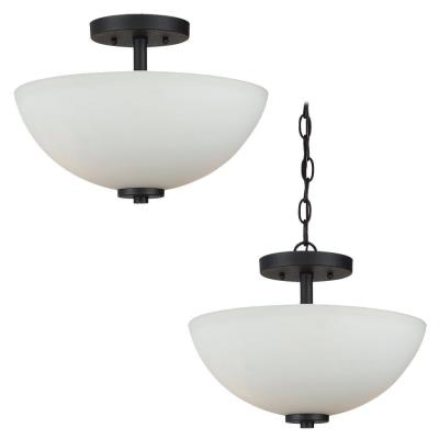 Sea Gull Lighting 77160-839 Oslo - Two Light Semi-Flush Mount