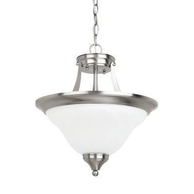Sea Gull Lighting 77174-962 Brockton - Two Light Convertible Semi-Flush Mount
