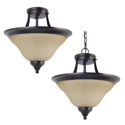 Sea Gull Lighting 77174BLE-710 Brockton - Two Light Convertible Semi-Flush Mount