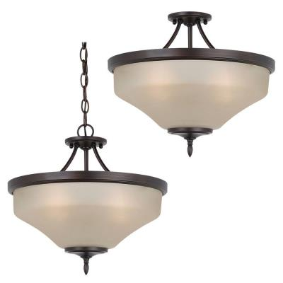 Sea Gull Lighting 77180-710 Montreal - Three Light Convertible Semi-Flush Mount