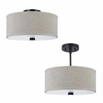 Sea Gull Lighting 77262BLE-710 Dayna - Two Light Convertible Semi-Flush Mount