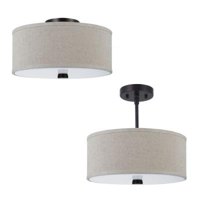 Sea Gull Lighting 77262BLE-710 Dayna - Two Light Convertible Semi-Flush Mount