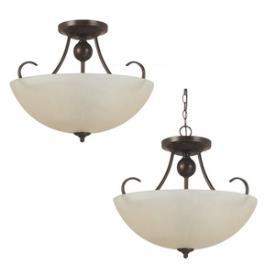 Sea Gull Lighting 77316-710 Lemont - Three Light Convertible Semi-Flush Mount