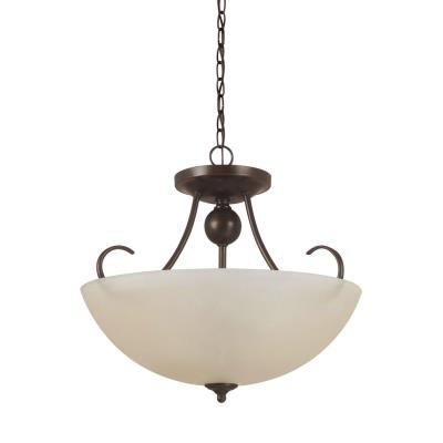 Sea Gull Lighting 77316-710 Lemont - Three Light Convertible Semi-Flush Mount