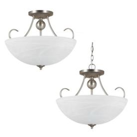 Sea Gull Lighting 77316BLE-965 Lemont - Three Light Convertible Semi-Flush Mount