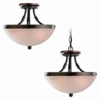 Sea Gull Lighting 77330-825 Two-Light Warwick Flush / Hanging Ceiling Light