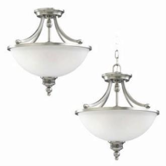 Sea Gull Lighting 77350-965 Two Light Convertible Semi-flush/pendant