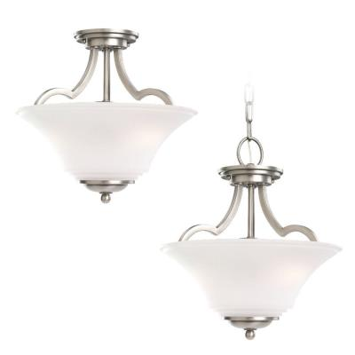 Sea Gull Lighting 77375-965 Two Light Convertible Semi-Flush/