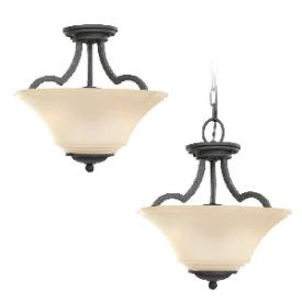 Sea Gull Lighting 77375BLE-839 Somerton - Two Light Convertible Semi-Flush Mount