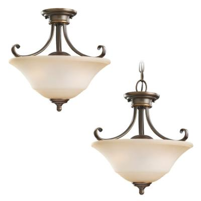 Sea Gull Lighting 77380-829 Two Light Convertible Semi Flush/