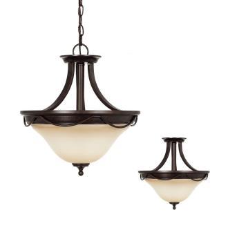 Sea Gull Lighting 77497-710 Park West - Two Light Convertible Pendant