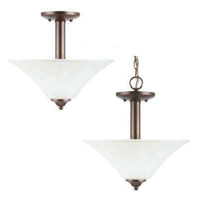 Sea Gull Lighting 77806-827 Holman - Two Light Semi-Flush Mount