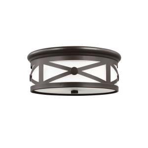 Lakeview - Two Light Outdoor Flush Mount