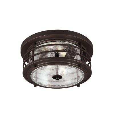 Sea Gull Lighting 7824402-71 Sauganash - Two Light Outdoor Flush Mount