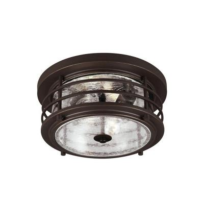 Sea Gull Lighting 7824402BLE-71 Sauganash - Two Light Outdoor Flush Mount