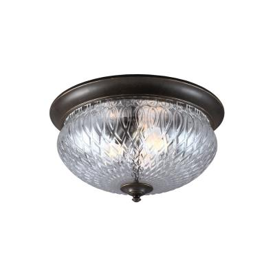 Sea Gull Lighting 7826403-780 Garfield Park - Three Light Outdoor Flush Mount