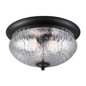 Sea Gull Lighting 7826403BLE-12 Garfield Park - Three Light Outdoor Flush Mount