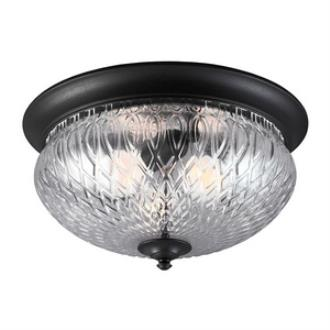 Sea Gull Lighting 7826403BLE-12 Garfield Park - Three Light Outdoor Flush Mount