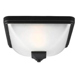 Sea Gull Lighting 7828401BLE-12 Irving Park - One Light Outdoor Flush Mount