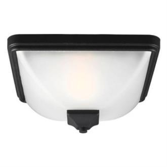 Sea Gull Lighting 7828401BLE-12 Irving Park - One Light Outdoor Flush Mount