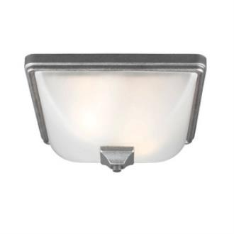 Sea Gull Lighting 7828402BLE-57 Irving Park - Two Light Outdoor Flush Mount