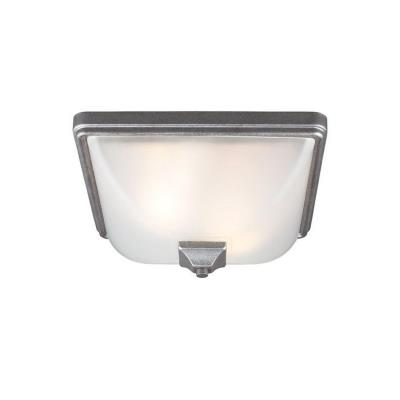 Sea Gull Lighting 7828402BLE-57 Irving Park - Two Light Outdoor Flush Mount
