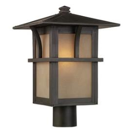 Sea Gull Lighting 82880BL-51 Medford Lakes - One Light Outdoor Post Lantern