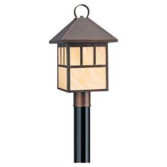 Sea Gull Lighting 82947BL-71 Prairie Statement - One Light Outdoor Post Lantern