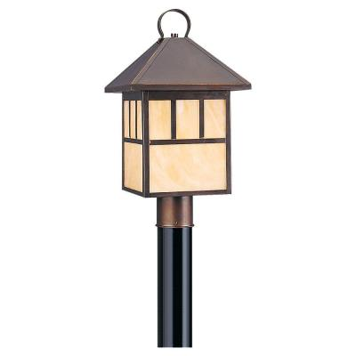 Sea Gull Lighting 82947BL-71 Prairie Statement - One Light Outdoor Post Lantern