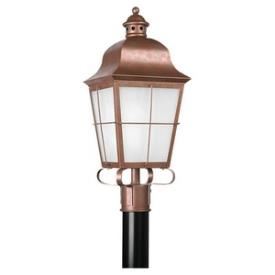 Sea Gull Lighting 82973BL-44 Chatham - One Light Outdoor Post Lantern